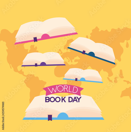 world book day Wall mural