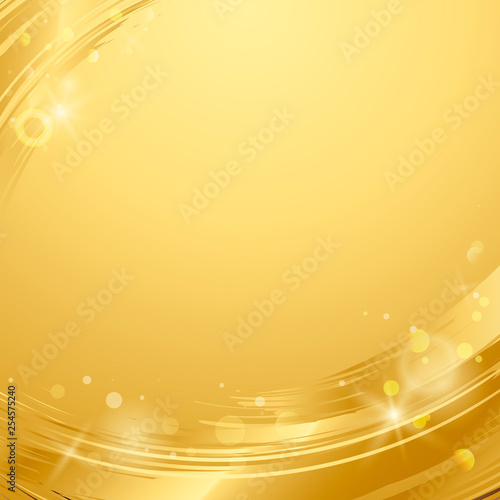 Gold wave abstract background illustration Wallpaper Mural