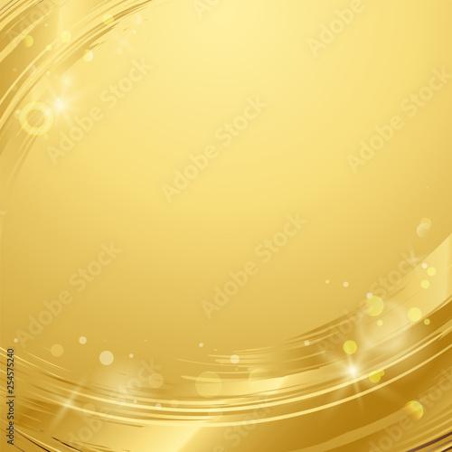 Obraz na plátně  Gold wave abstract background illustration
