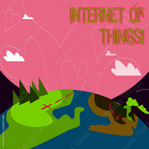 Canvas Prints Dinosaurs Conceptual hand writing showing Internet Of Things. Concept meaning Innovation Globalization Digital Electronics Connectivity