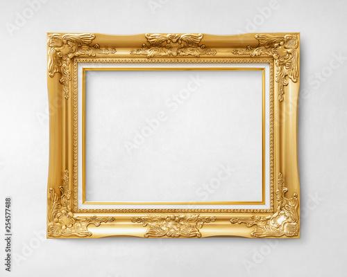 Gold vintage picture frame mockup Fototapete