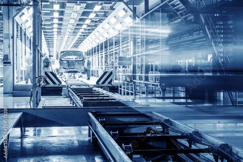 Fotografía  Automobile production line