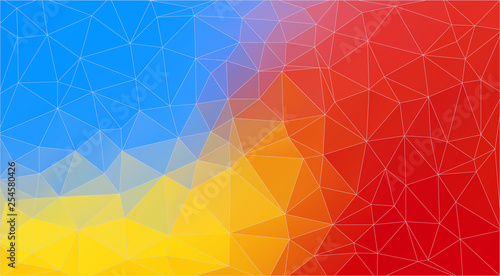 Bright Multicolor triangle mosaic background - Vector Eps