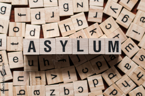 ASYLUM word concept Canvas Print