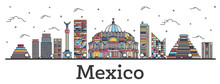 Outline Mexico City Skyline Wi...