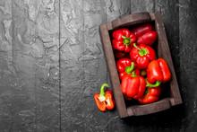 Ripe Sweet Pepper In The Box.