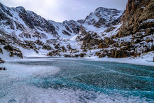 Snowshoeing To The Top Of Sky Pond In Rocky Mountain National Park In Estes Park, Colorado
