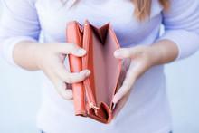 Woman Hand Open An Empty Wallet