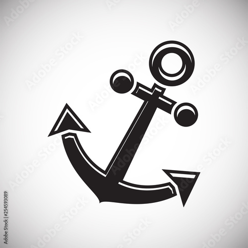 Fotomural  Ship icon on background for graphic and web design