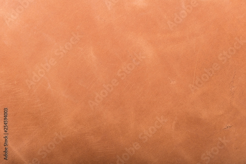 Deurstickers Leder Tanned leather dyed in brown color