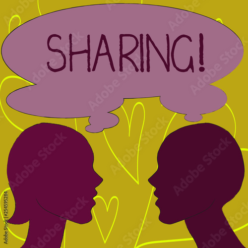 Fotografía  Writing note showing Sharing