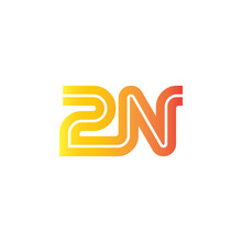 Initial Letter 2N Design Logo Template