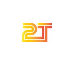 Initial Letter 2T Design Logo ...