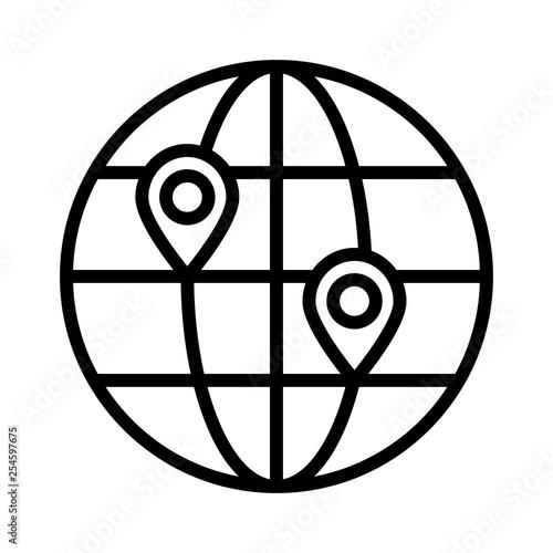Fotografie, Obraz  location   map   global
