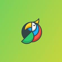 Parrot Geometric Concept Illustration Vector Template