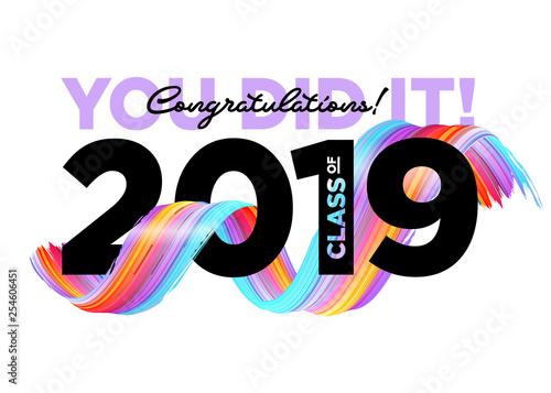 Congratulations Graduates Class Of 2019 Vector Logo ...