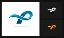 Letter P Wave Logo