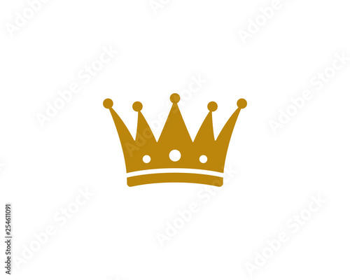 Crown Logo Template vector illustration Canvas Print