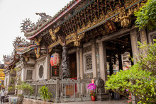 Taipei, Taiwan - January 27, 2019 - The Temple Of Longshan In Downtown Taipei In Taiwan