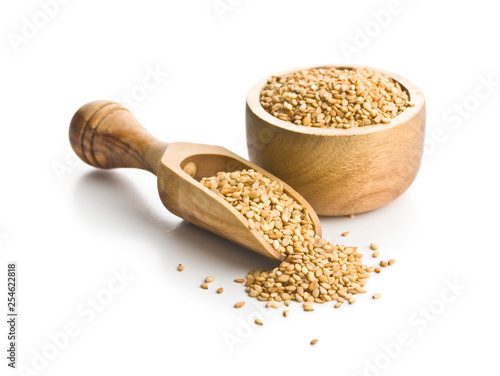 Photo Roasted sesame seeds.
