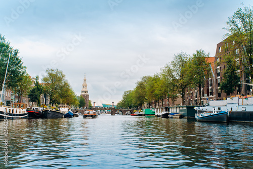 Amsterdam, Netherlands September 5, 2017: canals and rivers Canvas Print