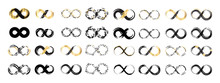 Black Brush Stroke Infinity, Eternity Or Moebius Vector Symbol