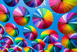Fototapeta Rainbow - Rainbow umbrella colorful rainbow