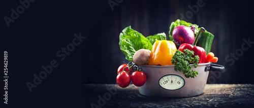 Leinwand Poster frisches Gemüse - Diät