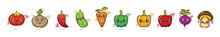 Cute Face Cartoon Vegetables C...