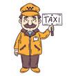 Happy taxi driver.