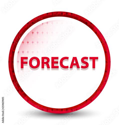 Fotografía  Forecast misty frozen red round button