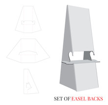 Easel Back Template, Double Wi...