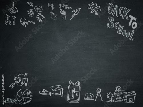 Fotografia, Obraz  back to school , written on a blackboard.