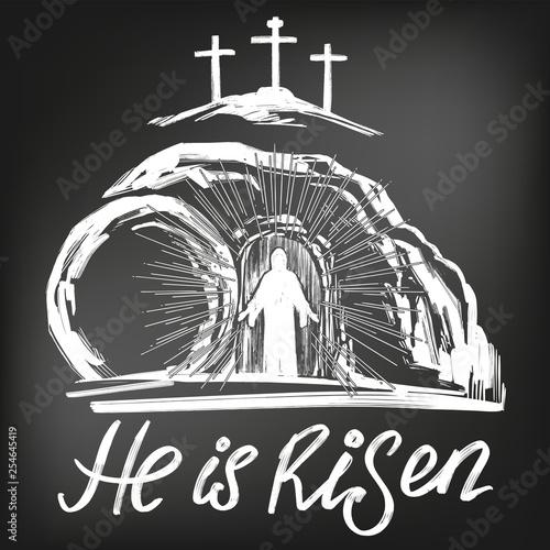 Cuadros en Lienzo Easter Jesus Christ rose from the dead