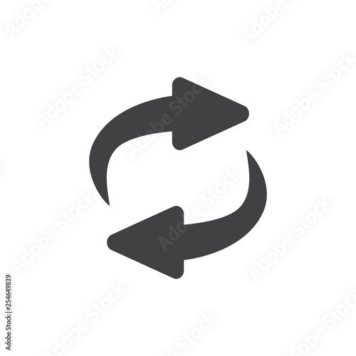 Fotografía  Exchange icon illustration. Flip over or turn arrow. Reverse sign