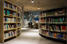 A Library In A College In The ...