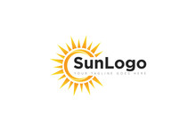 Sun Logo And Icon Vector Desig...