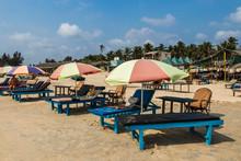 Beautiful, Tourist Beach In Benaulim, Goa, India