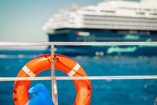 Safe Lifebuoy Aboad And Cruise Ship