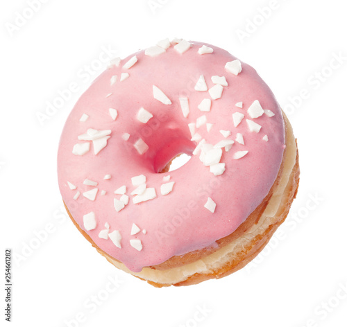 Fotografía  Donut isolated on white background
