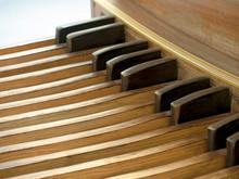Pipe Organ Pedal Keyboard Close View
