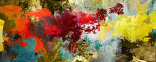 Malerei Texturen Abstrakt Quer...