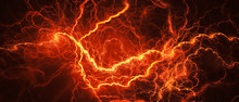 Fiery Glowing Lightning