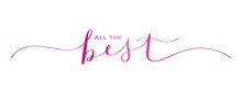 ALL THE BEST Brush Calligraphy...