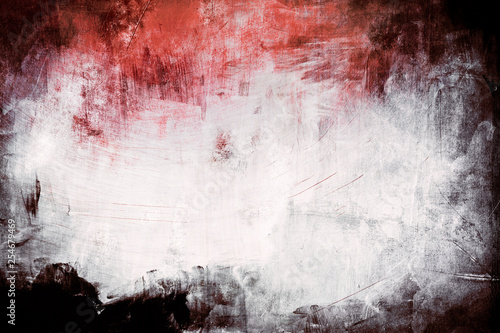 Fotografía  red grungy background with spotlight background