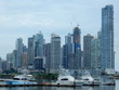 Panama city skyline in a cloudy day, Panama, Central America