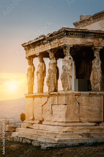 The Caryatids of the Erechtheion Canvas Print
