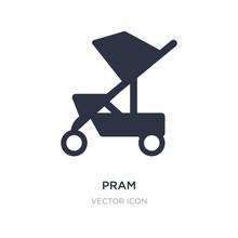 Pram Icon On White Background....