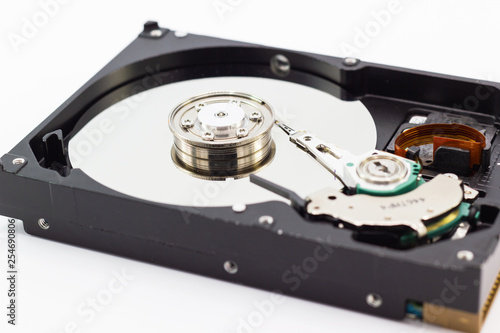Fotografia  Hard disk drive for computer data storage technology HDD  isolated with white ba