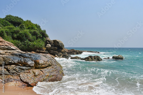 India, Kerala. Beach of the Indian ocean in sunny day Wallpaper Mural